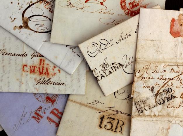 Lettere antiche scritte a mano anonime dalla spagna