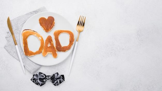 Lettere del pane per lo spazio della copia di festa del papà