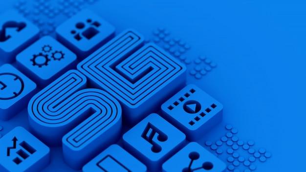 Lettere di telecomunicazione di nuova tecnologia 5g