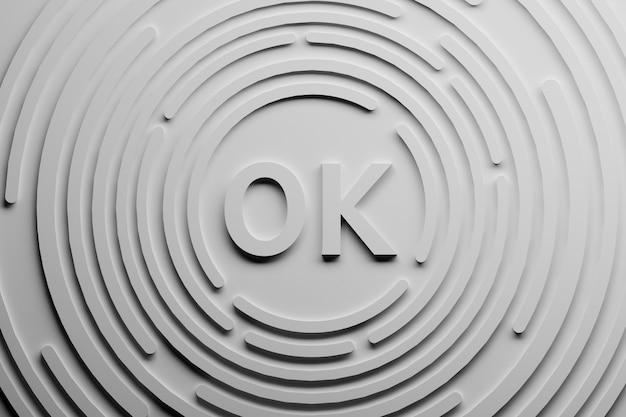 Lettere ok con cerchi intorno a loro.