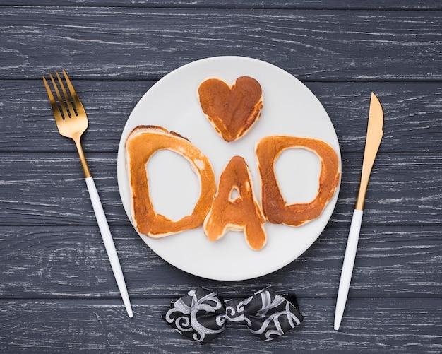 Lettere piatte per pane per la festa del papà