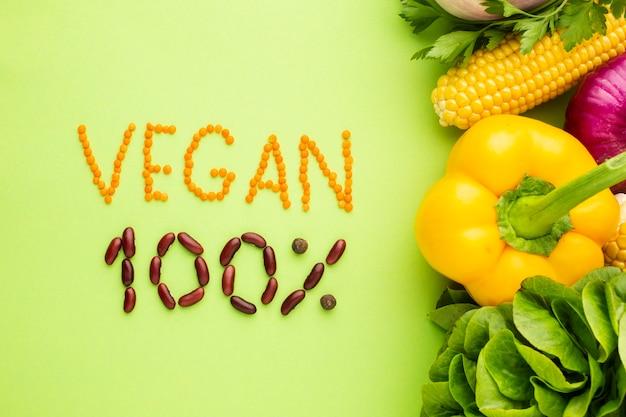 Lettering vegano fatto di semi