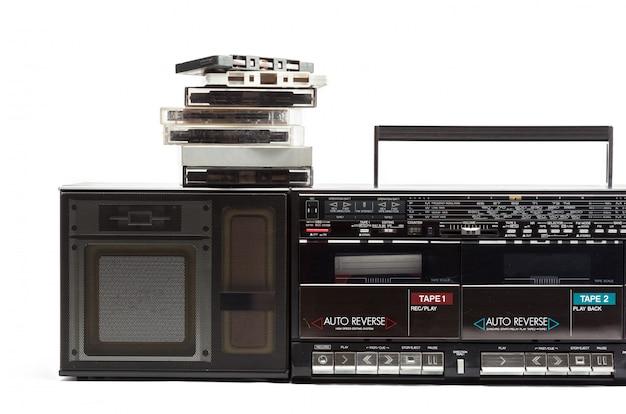 Lettore di cassette su bianco