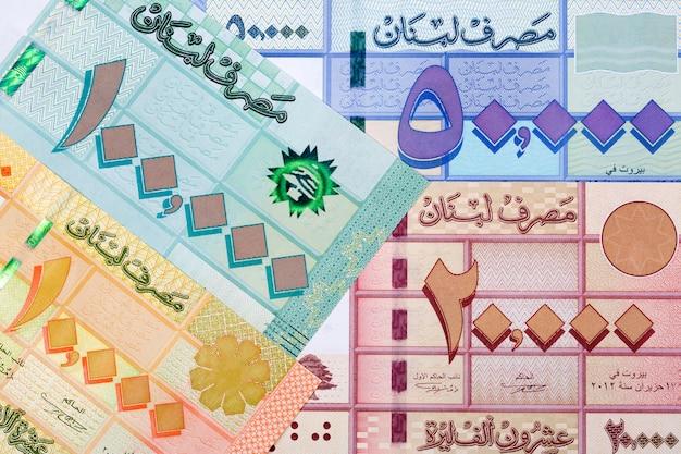 Libbra libanese uno sfondo di affari