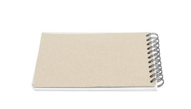 Libro del biglietto da visita isolato su bianco