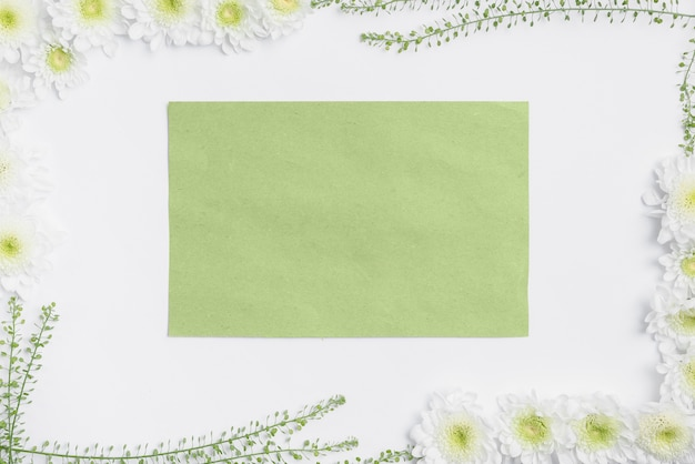 Libro verde all'interno del confine vegetale