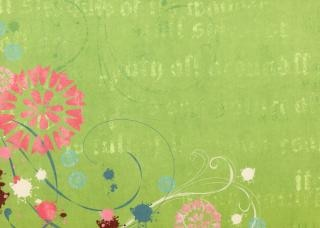 Libro verde floreale texture