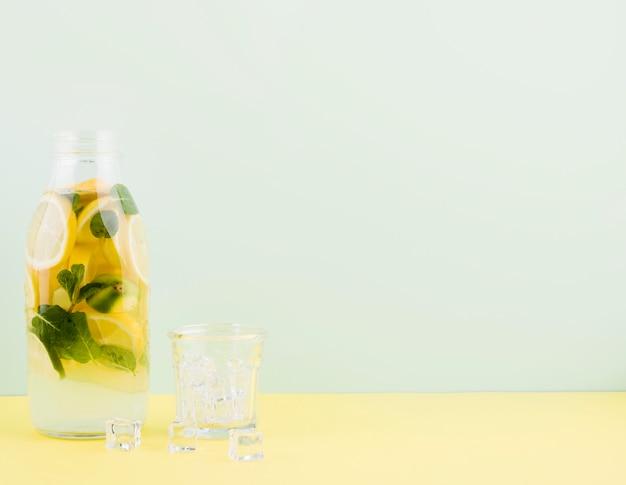 Limonata fatta in casa deliziosa con lo spazio della copia