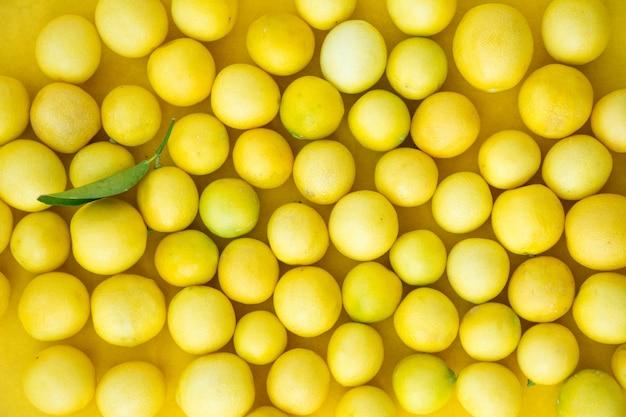 Limone fresco con foglie