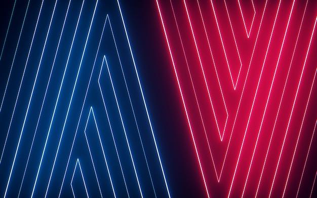 Linea al neon variopinta d'ardore e brillante estratto leggero di alfabeto su fondo nero