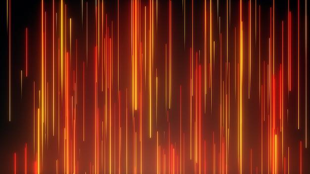 Linee al neon direzionali astratte