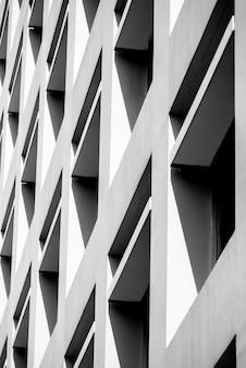 Linee di architettura di sfondo astratto. dettaglio di architettura moderna