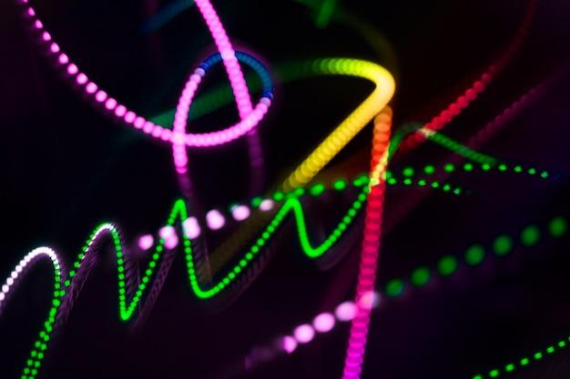 Linee di luce striscia di sfondo