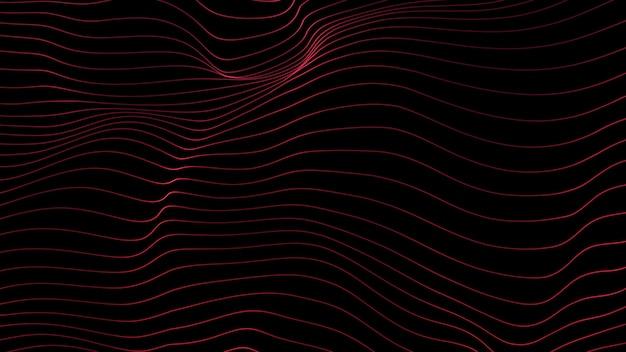 Linee di sfondo. linea astratta. motivo a strisce, elemento neon curvo. sfondo dinamico. copertina di presentazione. colore rosso