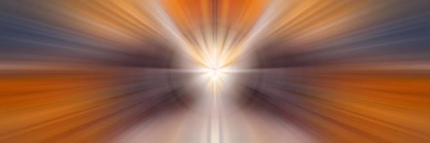 Linee dinamiche di luce. luce dal punto centrale.