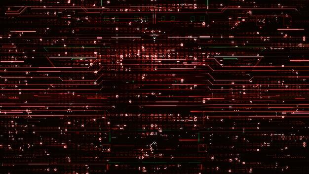 Linee rosse digitali sfondo scuro