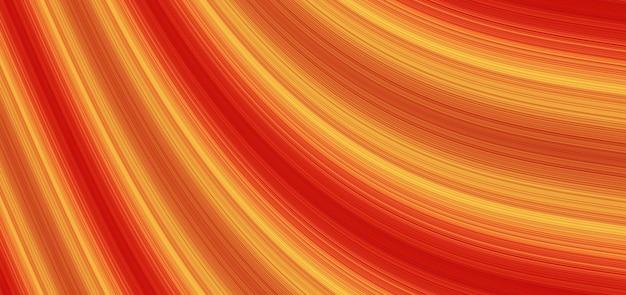 Linee rosse e gialle che vanno in prospettiva