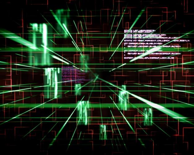 Linee verdi e rosse accanto agli schermi
