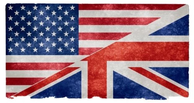 Lingua inglese grunge flag