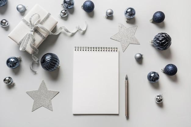 Lista dei desideri, lista di controllo, per fare attività di lista per il nuovo anno 2020