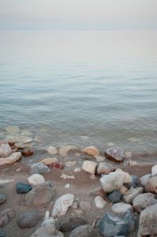Litorale del lago winnipeg a gimli, manitoba, canada