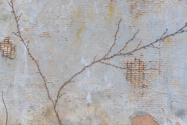 Lo sfondo del muro squallido con grate.