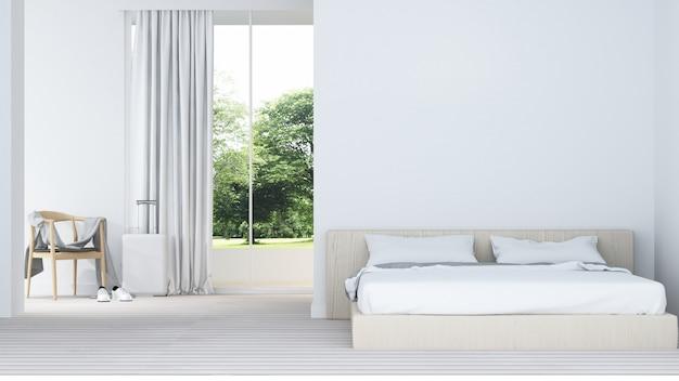 Lo spazio interno della camera da letto in hotel