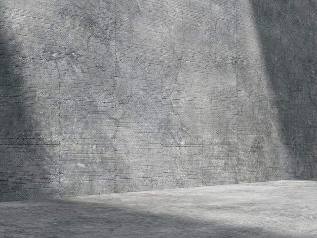 Lo spazio vuoto per i prodotti viene mostrato in una stanza di cemento con luce naturale dall'alto.