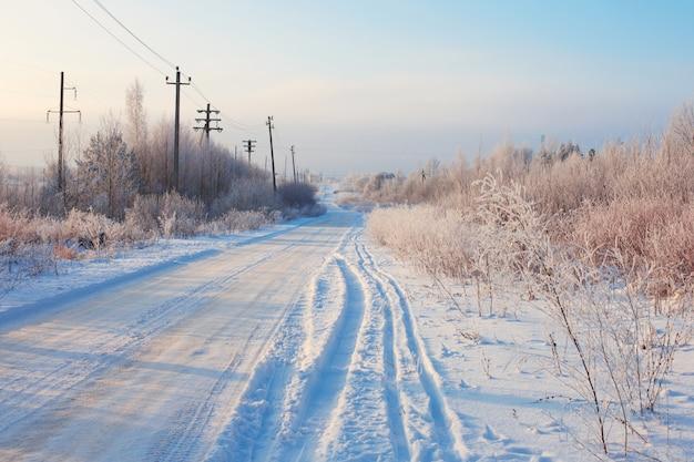 Lo splendido paesaggio invernale