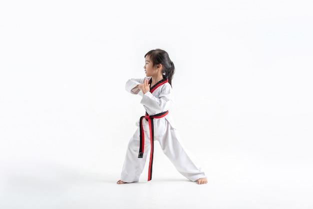 Lo studio asiatico per bambini arti marziali di karate