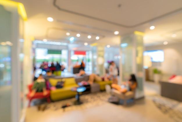 Lobby dell'hotel sfocato sullo sfondo