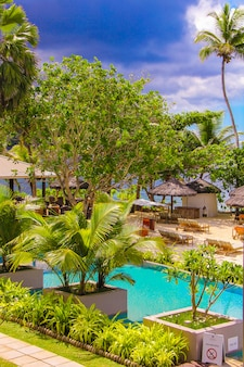 Località esotica in un paese tropicale seyshelles