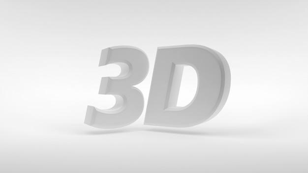 Logo 3d bianco