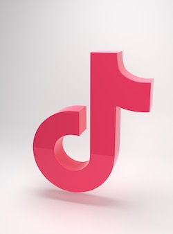 Logo dell'app tik tok dal design minimale e semplice