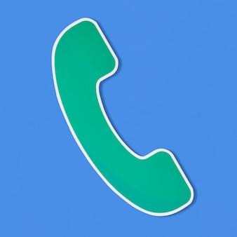 Logo di un'illustrazione vettoriale di telefono