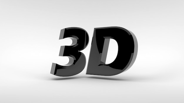 Logo in metallo 3d isolato su superficie bianca con effetto riflesso