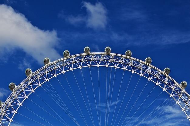London eye, nella città di londra, inghilterra, regno unito