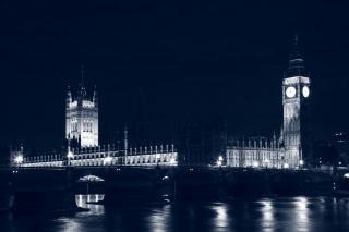 Londra parlamento di night