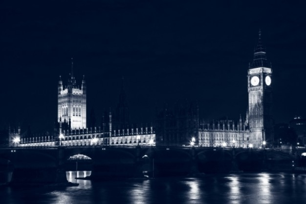 Londra parlamento di notte