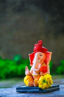 Lord ganesha, festival indiano di ganesh