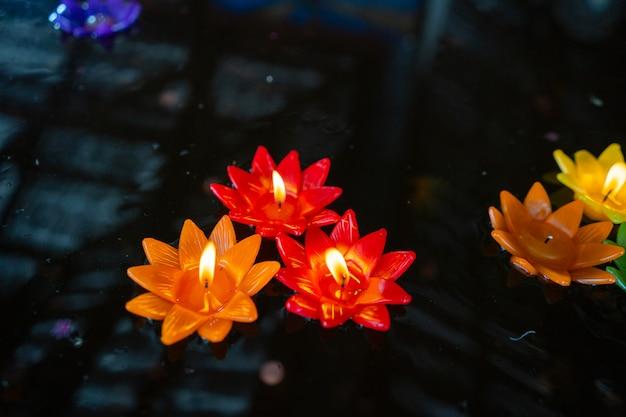 Loto candela di colore