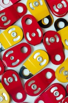 Lotto di carrucole in acciaio