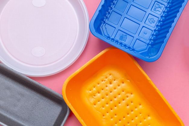 Lotto di plastica per il riciclaggio