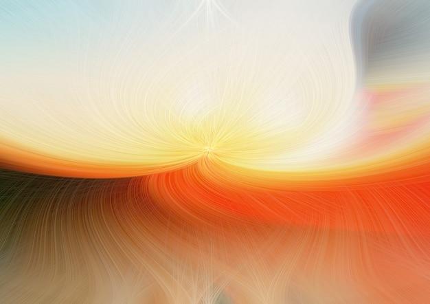 Luce di fuoco contorta astratta