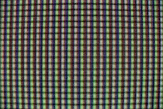 Luci a led dal pannello di visualizzazione dello schermo del monitor del computer per la progettazione grafica.