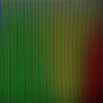 Luci a led dal pannello di visualizzazione dello schermo del monitor del computer