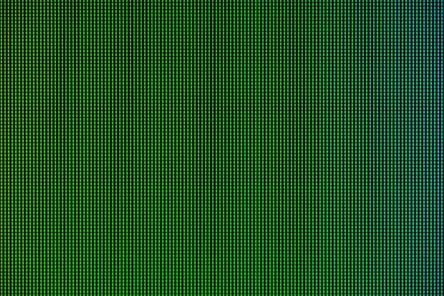Luci a led dal pannello di visualizzazione dello schermo del monitor led del computer.