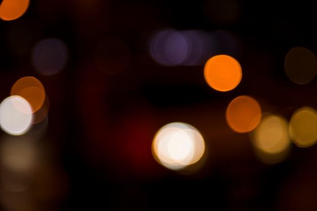 Luci della città sfocate