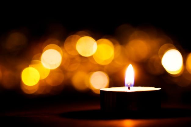 Luci di candela di natale sfondo perfetto per un testo