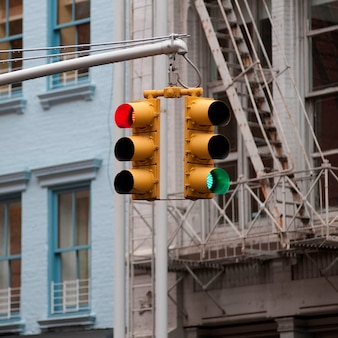 Luci di taffic a manhattan, new york city, usa